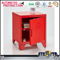 Height 500mm single door mini IK bed side cabinet small metal bedside cabinet
