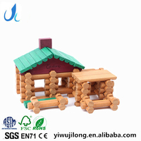 90 grain of forest Log Cabin wooden Lincoln's house children creative educational building blocks toys