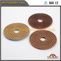 Flexible 3 step wet aluminum backer polishing pad with rough size