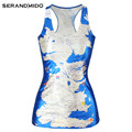 Loose custom crop 3d skull printing 1005 polyester tank top