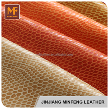 Artifical embossed for handbag shoes high quality pu leather goods
