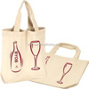 Low price new arrival canvas wine carrier bag