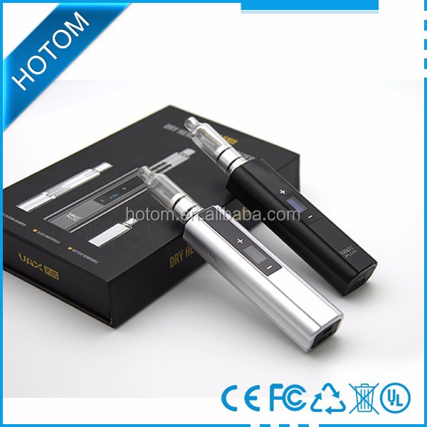 2016 Unique Newest VAX PLUS dry herb vaporizer with OLED screen change battery portable