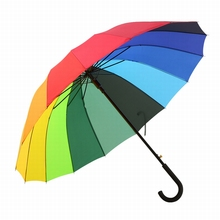 hot sale most popular blunt bright colored umbrella for wind