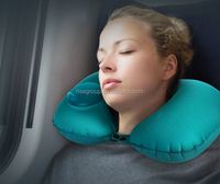 inflatable by hand travel neck pillow