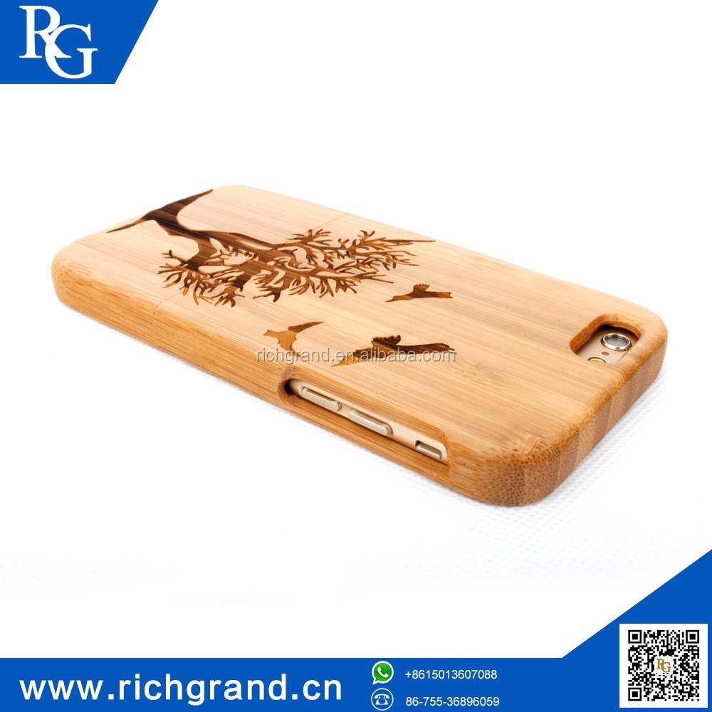Customizable natural wood mobile phone case For iPhone5 6/6S 6plus