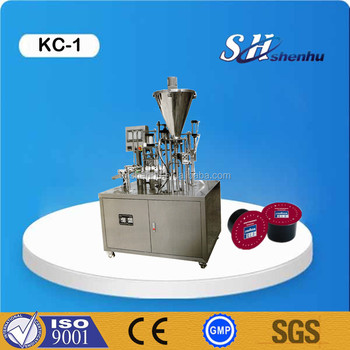 professional automatic rotary k cup coffee capsule powder cup filling sealing machine