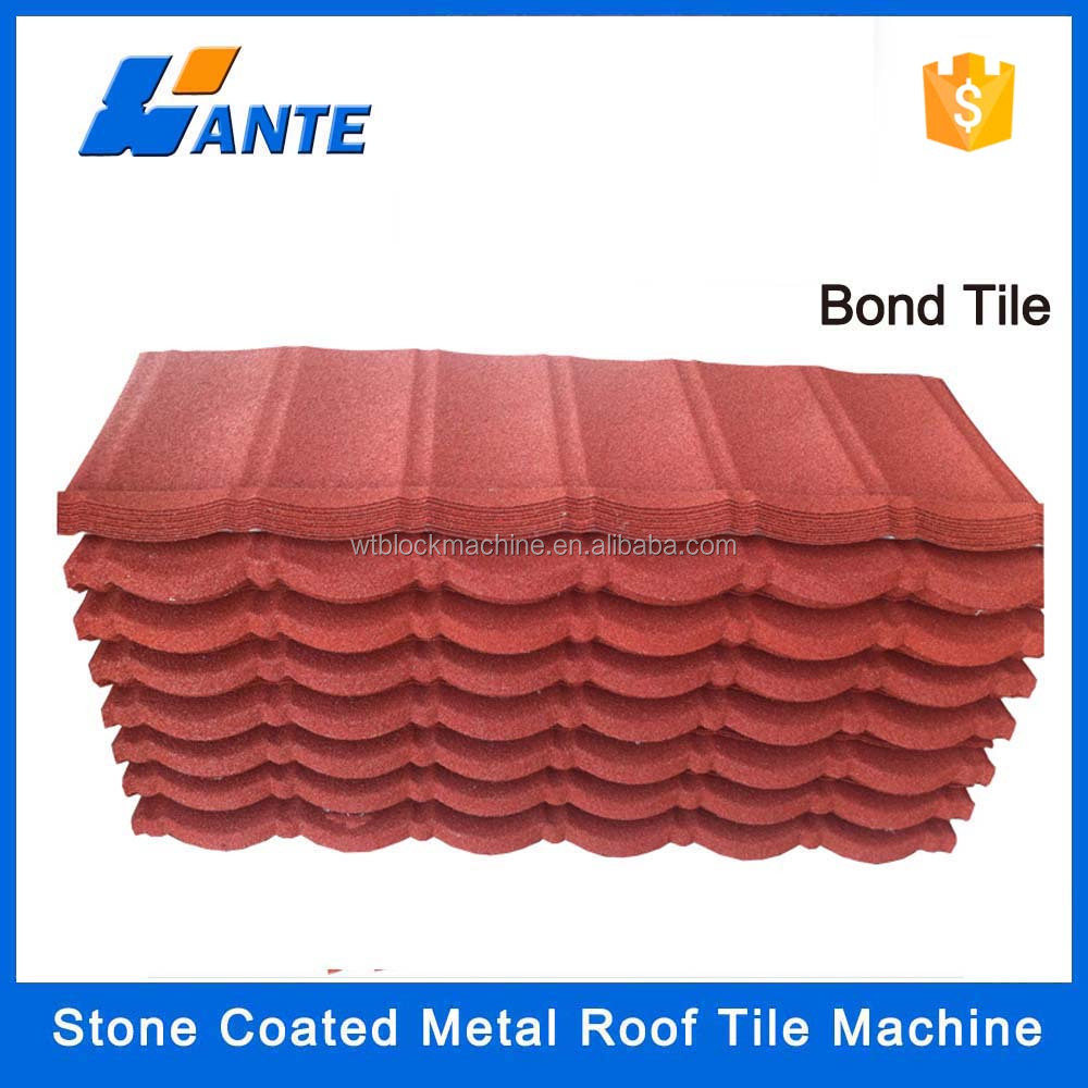 2016 new design zinc plate colorful stone coated metal roofing tile