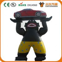 Factory Popular top sale inflatable cartoon panda for promotion