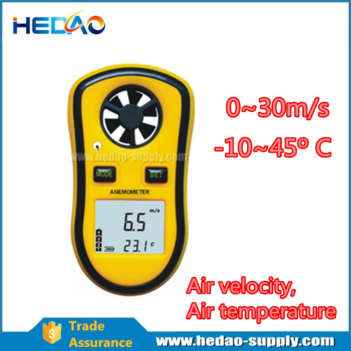 Digital Anemometer Wind Speed Air Velocity Meter Thermometer Speedmeter