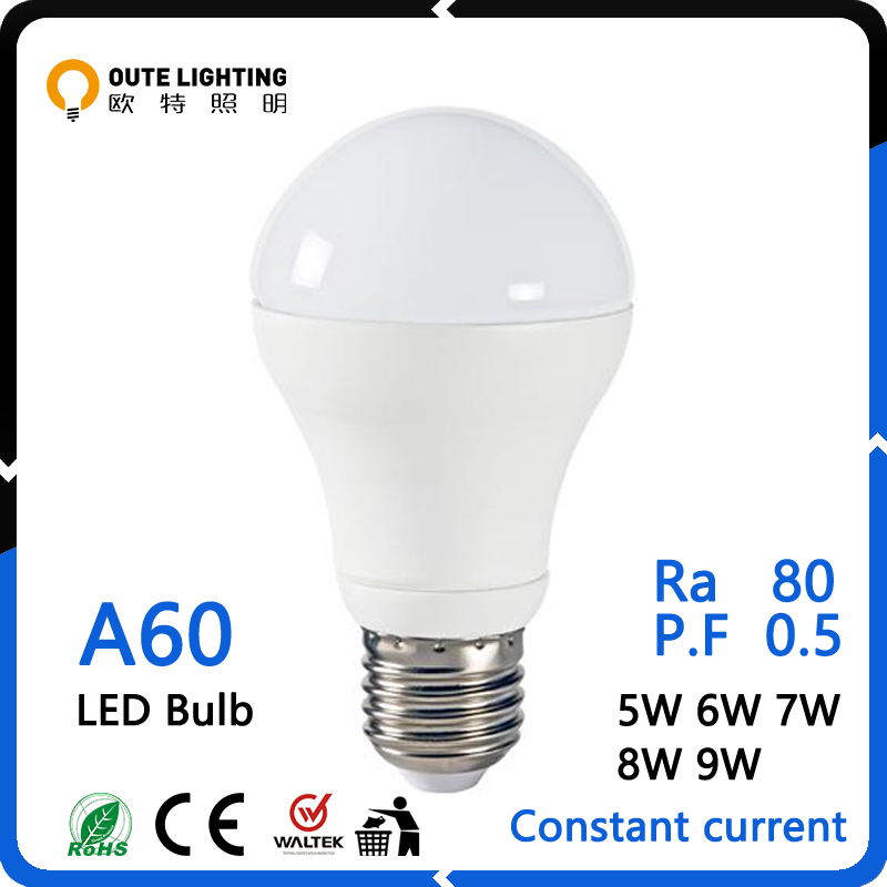 High Lumens 5W 6W 7W 8W 9W E27 A60 Hot Sale Light Bulb E27