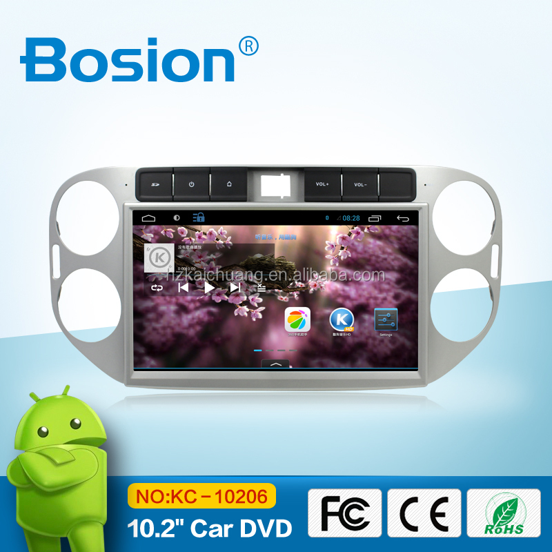 portable android 4.4.4 car dvd player stereo radio for vw tiguan/gps wifi 3g bluetooth rear camera input aux in usb sd