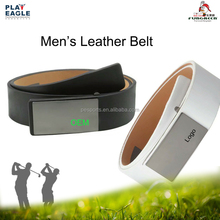 Custom Logo Genuine Leather Pin Buckles Sports Golf Waist Belt Baseball Leather Golf Belt