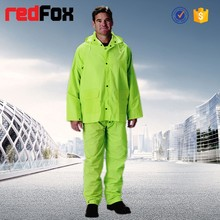 men high visibility color rain cover
