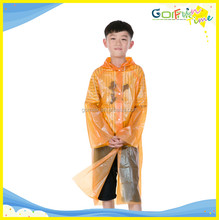 OEM waterproof raincoat with sleeves Child High quality PEVA rain poncho