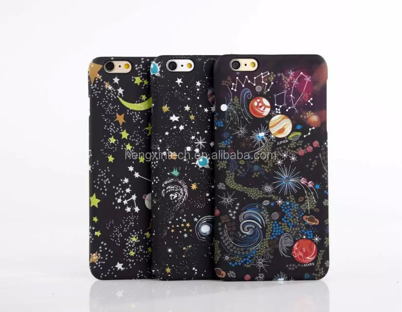 Luxury Starry Sky Glitter SLIM Frosted Cover Dimensional Stars Case for iPhone6s/6splus/6/6plus/5/5s