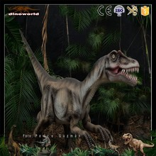 DW-0927 museum exhibition huge attractive animated life size raptor dinosaur statue