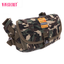 Low cost multifunction fashion leisure canvas durable men pouch bag hip bag military sport waist bag