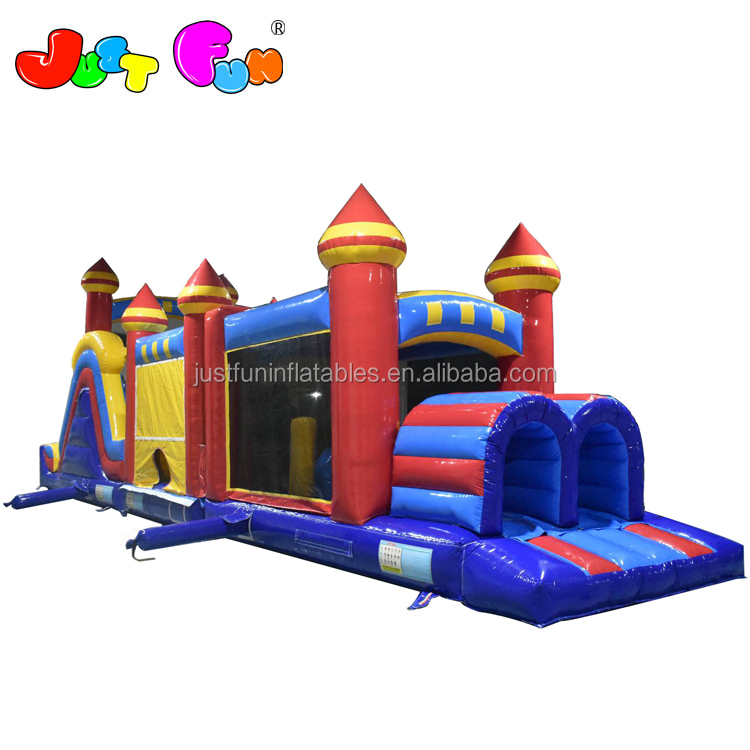 factory price obstacle course inflatable commercial Big  inflatable obstacle course for kids for sale
