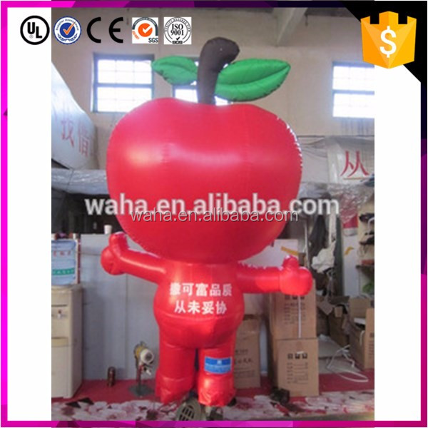 Event decoration red fruit giant inflatable apple for advertising