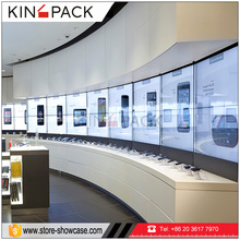 Newest mobile phone shop interior display showcases for phone shows