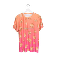 Online Shopping New Design 3D Print Emoji Monkey Orange Custom Grils T-shirt
