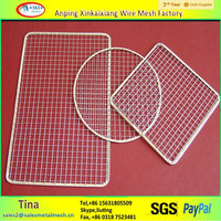 Best selling barbecue wire mesh with aquare hole and ss material