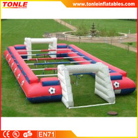 New design popular inflatable table game, human inflatable table football