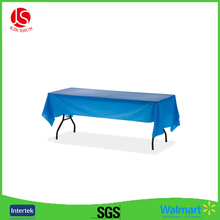 Birthday party style tablecloth custom printed PEVA table Wholesale Embroidery,White Champagne Ruffle Satin Table Cloth