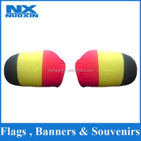 2016 hot sell polyester&spandex elastic Belgium car mirror flag cover side mirror socks