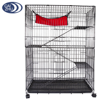 "48"" Large Chinchilla Cage, Cat Cage, Ferret Cage 2 Door Crate with Hammock"