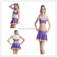 wholesale/retail on line school girl Cheerleader Two Piece Costume s-xl