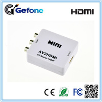 AV (CVBS+R/L) to HDMI Mini Converter with Excellent Quality
