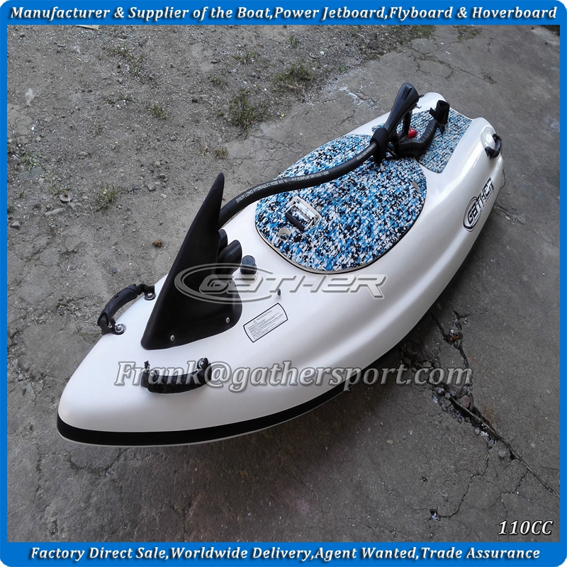 hot sale ce certificated red color 4stroke 110CC power jet board