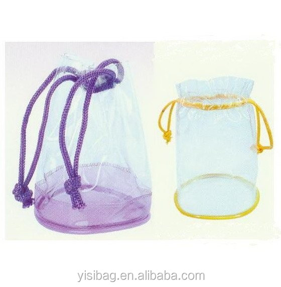 clear pvc vinyl drawstring bag