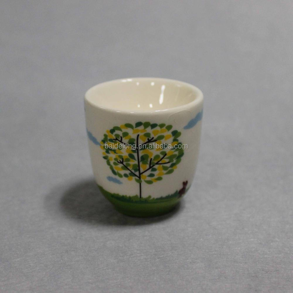 Ivory White Porcelain China Ceramic Cream White Egg Stand Egg Cup