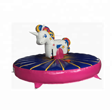 New Design Mechanical Inflatable rodeo Unicorn Inflatable Rodeo Bull with Mattress for kids