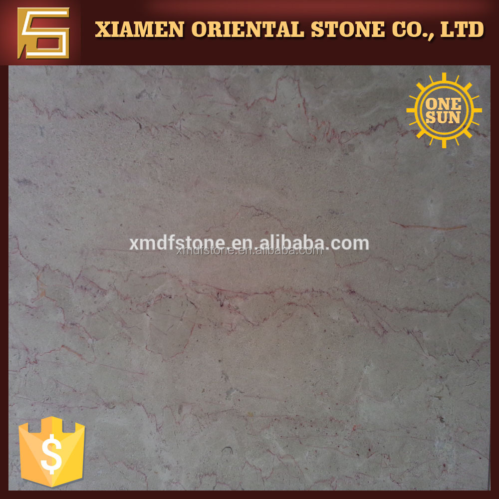 filetto rosso red lines cream beige marble tile with low factory price