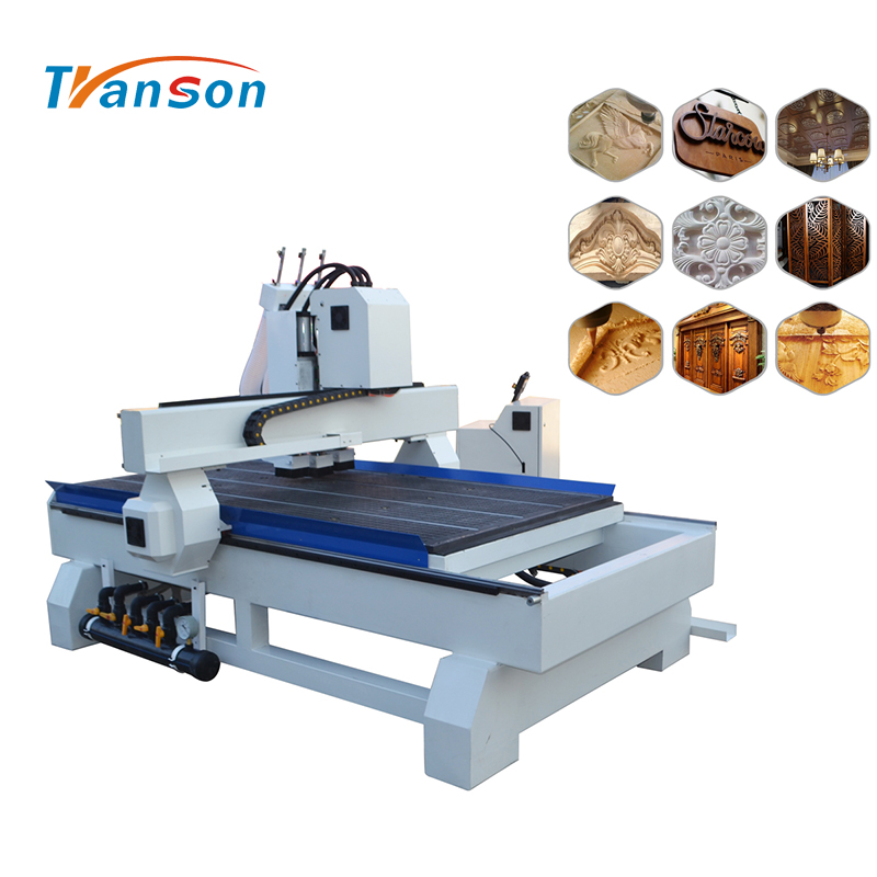 3 spindles 3d cnc wood carving router machine with cylinder