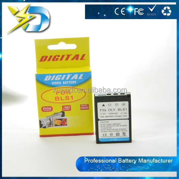 BLS-1 BLS1 Video Camera Battery for Olympus SLR E-400 E-410 E-420 E-450 E-600 E-620 Pen E-P1 E-P2 E-PL1