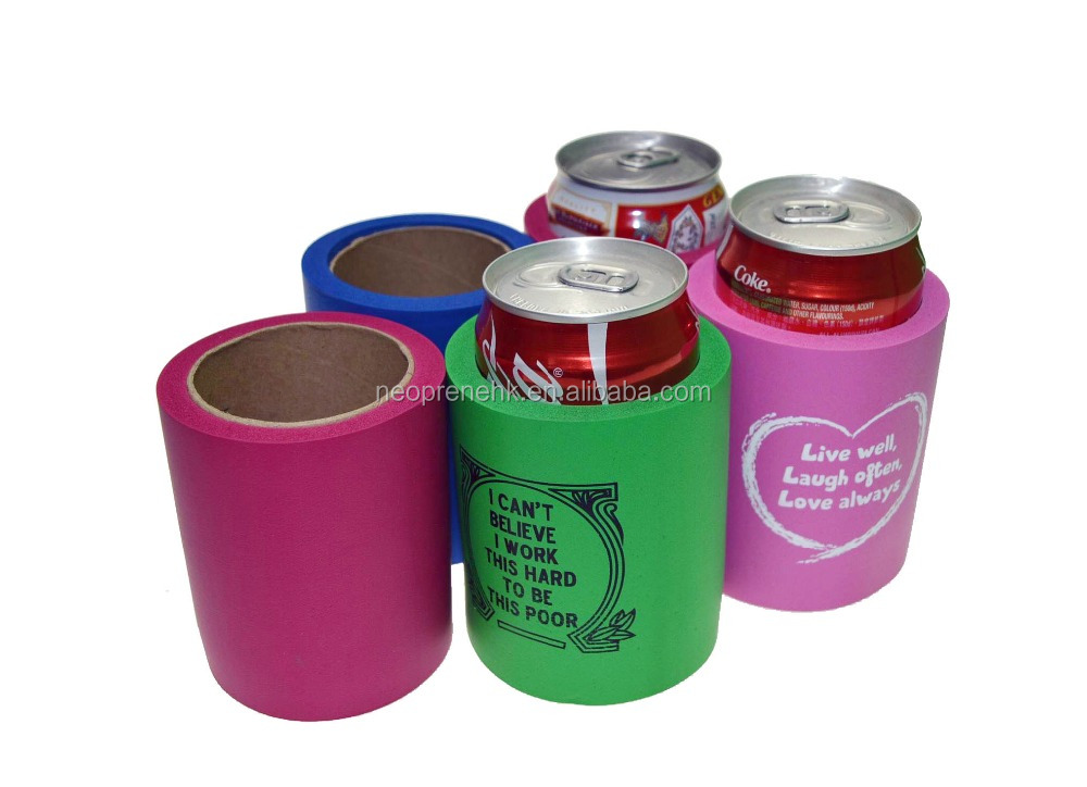 Colorful NBR Can Coolers And Holder And Cover