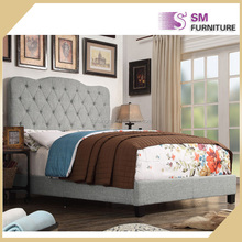 Antique best leather double sleeping latest fabric bed designs
