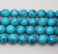 turquoise material beautiful blue color 10mm natural gemstone bead