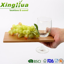 mini wooden wine glass bottle holder