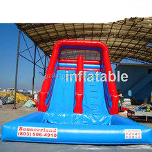 Promotional Brand New Design inflatable shark slide, inflatable wet slide, inflatable fire truck slide