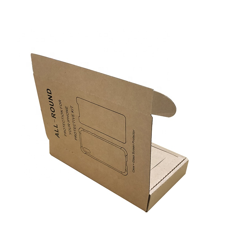 Die cut tempered glass corrugated paper boxes Screen Protector packaging box