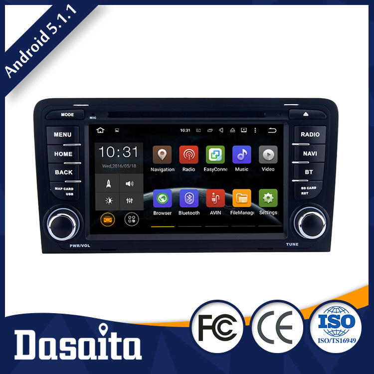 Cheap 7 inch Android 5.1.1 Steering Wheel Control car dvd GPS navigation for audi A4