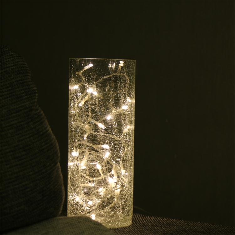 Best Selling Home Decoration Crackle Vase String Lights Buy Glass