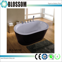 classic freestanding portable black lucite bathtub prices