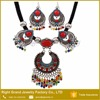 Fashion Nationality Necklace Chunky Turquoise Stone Resin Indian Jewelry Set